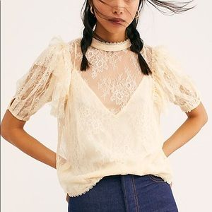 🆕Free people lace blouse